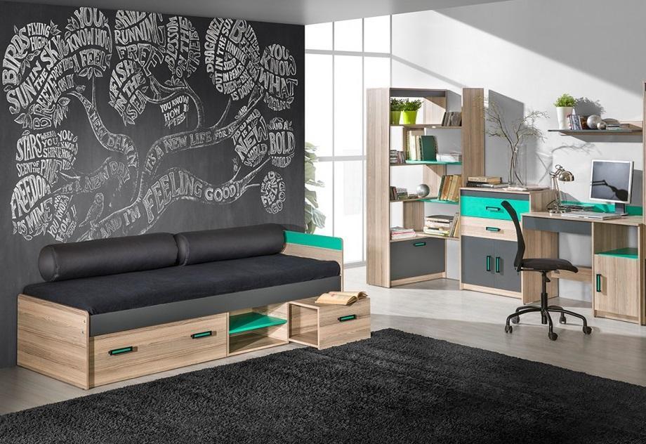 SAMUEL SM7 moderní dětská postel s úložným prostorem | 3 dekory