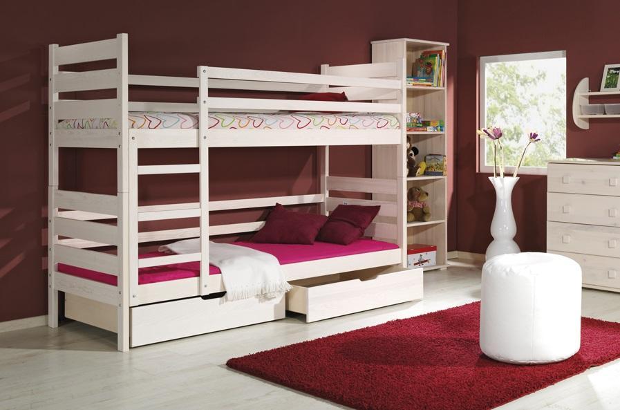 DAREK poschoďová postel z masivního dřeva