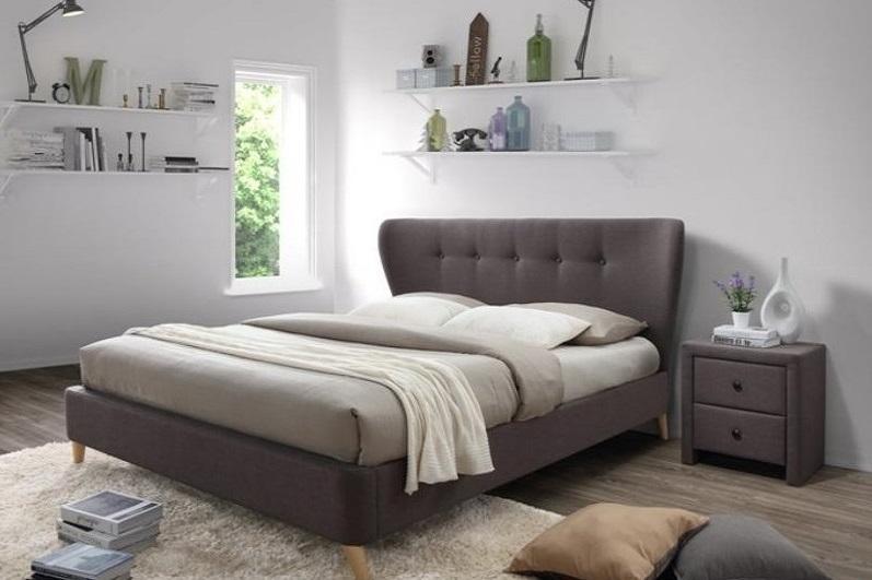 VIENA čalúnená manželská posteľ 180x200 s roštom