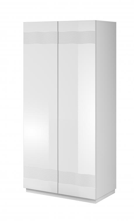 ALABASTER AB-1 malá biela šatníková skriňa do spálne