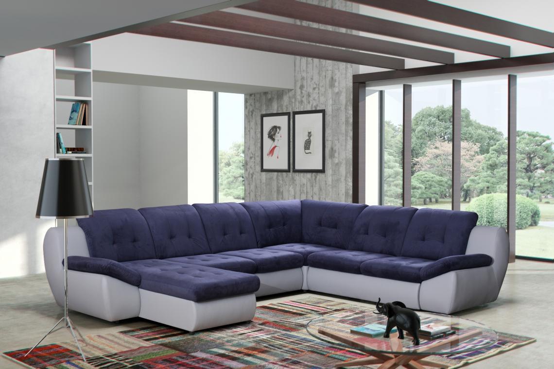 Mello U dizajnová sedačka do tvaru U s rozkladacou funkciou a úložným priestorom