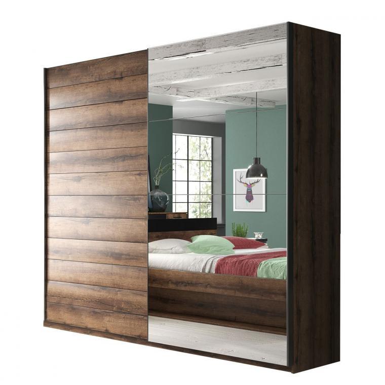 ZUZANA 2 zrcadlová šatní skříň s posuvnými dveřmi | víc rozměrů