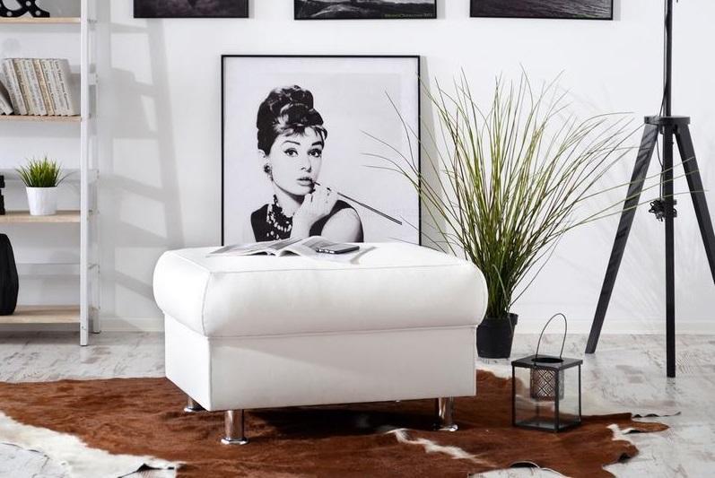 PERLA luxusný taburet, možnosť pravej kože