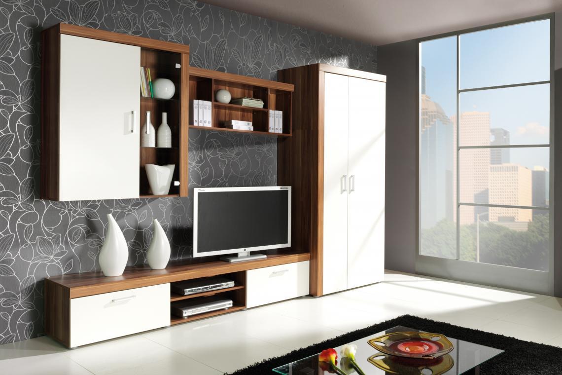 SAMBA obývacia stena, dekor slivka/krém