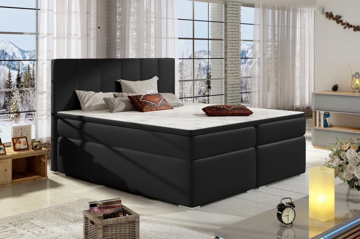 BOLERO 140x200 boxspring postel s úložným prostorem