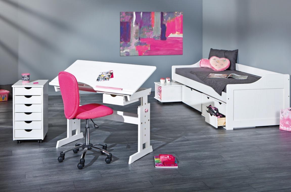 c15d7c62c57a Výškovo nastaviteľný detský písací stôl BARU