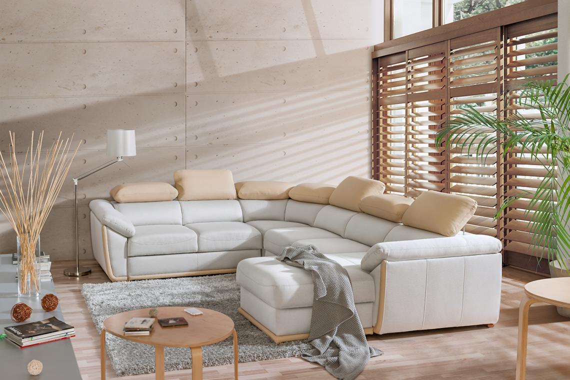 KLEOPATRA U luxusní sedačka ve tvaru U, možnost objednání v pravé kůži