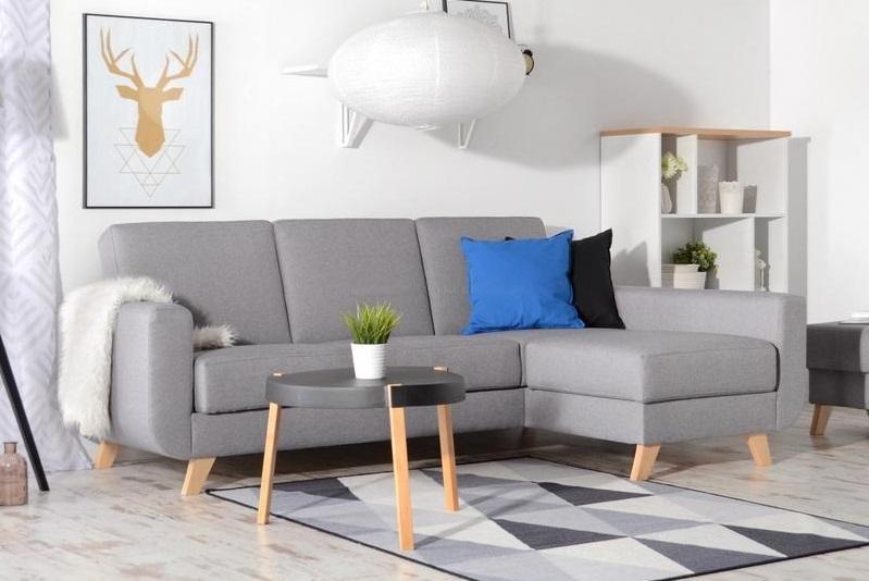 ZARA moderná rozkladacia rohová sedačka v škandinávskom štýle