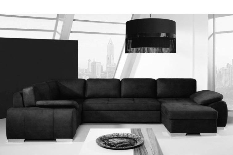 MIA U elegantná rozkladacia sedačka v tvare U s úložným priestorom
