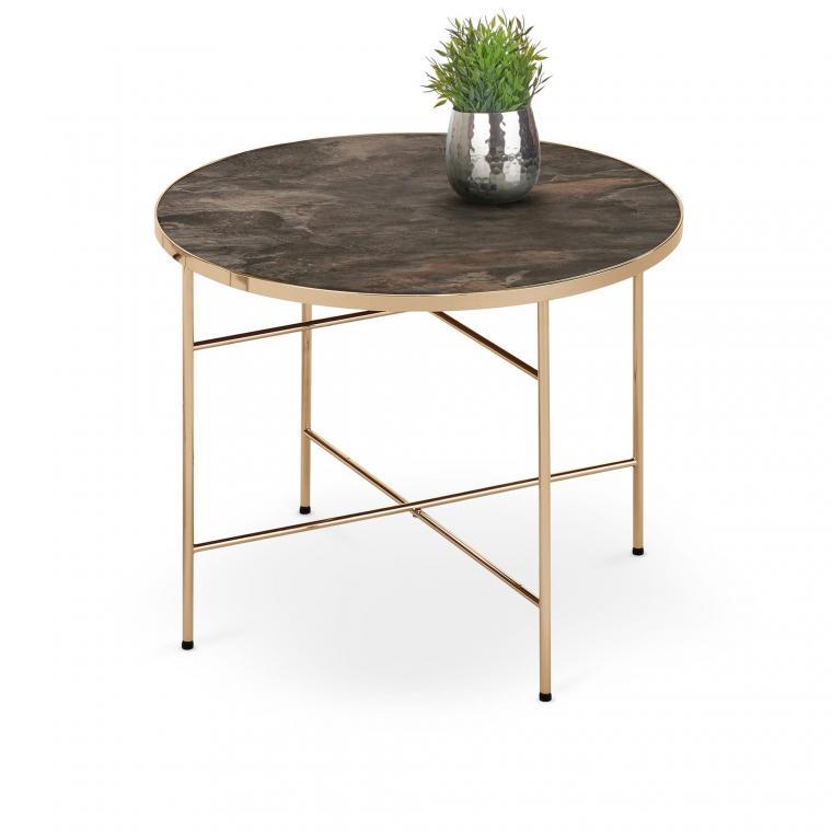 ISABELLE kulatý konferenční stolek v industriálním stylu