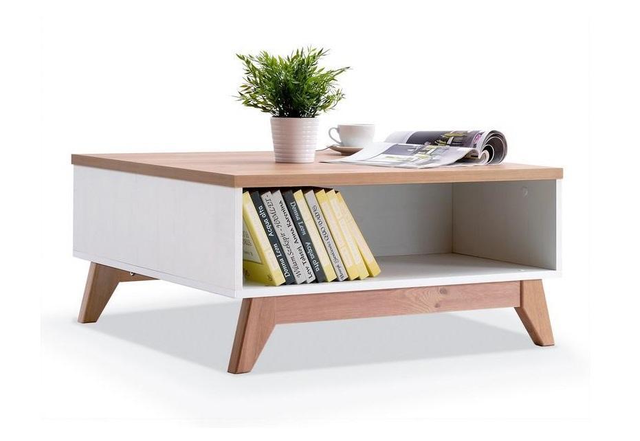 GEORGIA GE10 konferenční stolek ve skandinávském stylu s úložným prostorem