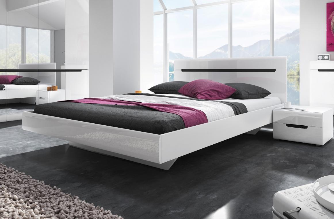 ROSIE 160x200 manželská posteľ s lesklým dekorom | 2 dekory