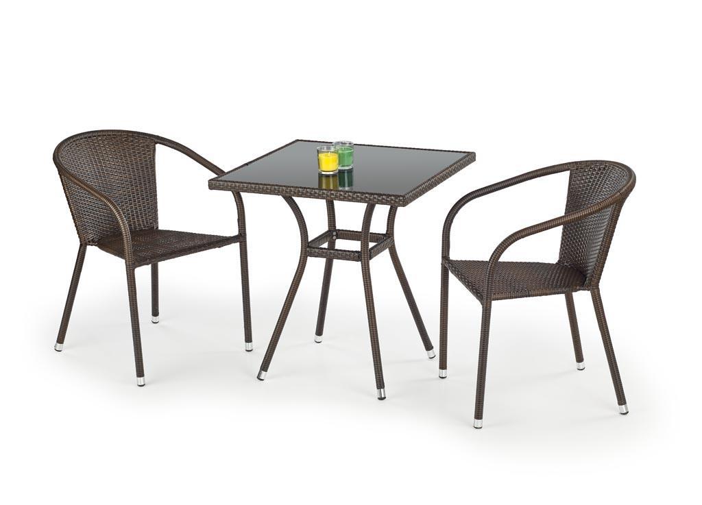 dcc9421cd2db Balkónový nábytok Mobil - stôl + 2x stoličky   ratan