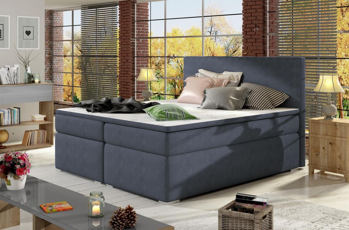 DIVALO 140x200 boxspring postel s úložným prostorem