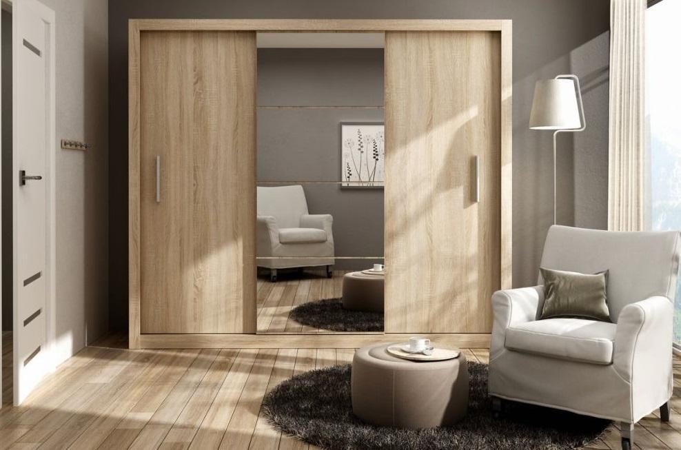 IDEA ID-01 veľká šatníková skriňa so zrkadlom | 4 dekory