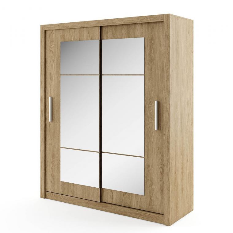 IDEA ID-02 veľká šatníková skriňa so zrkadlom | 4 dekory