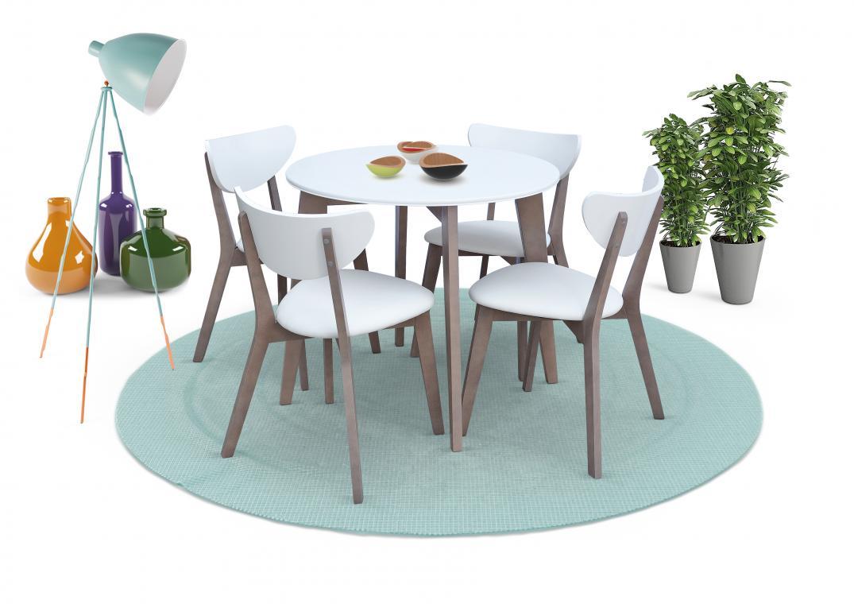 Jedálenská zostava 50 | jedálenský stôl + 4x stoličky