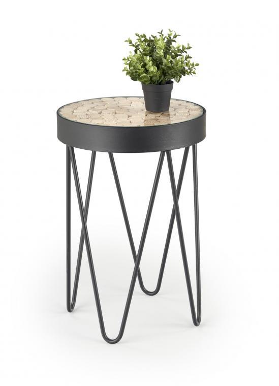 NATURO kulatý konferenční stolek v industriálním stylu