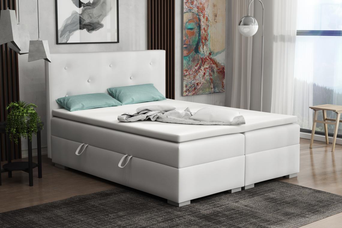 DONA kontinentální postel boxspring 160x200 s úložným prostorem
