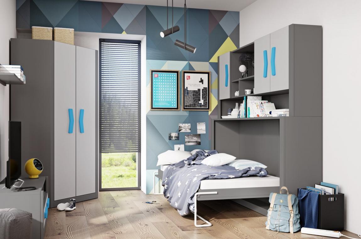 BUMERANG BR-14 sklápěcí postel do dětského pokoje