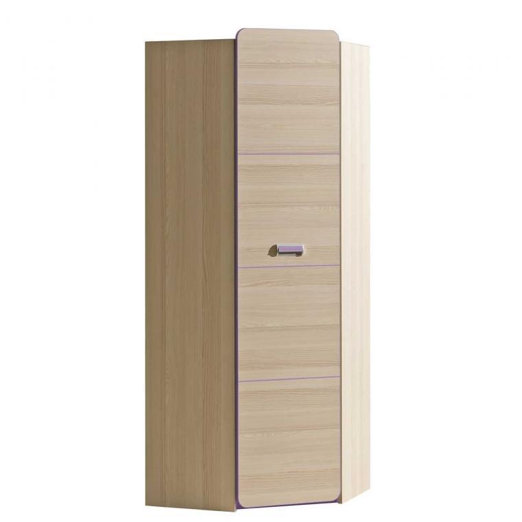 LORENTO L14 rohová šatní skříň do dětského pokoje | 2 dekory