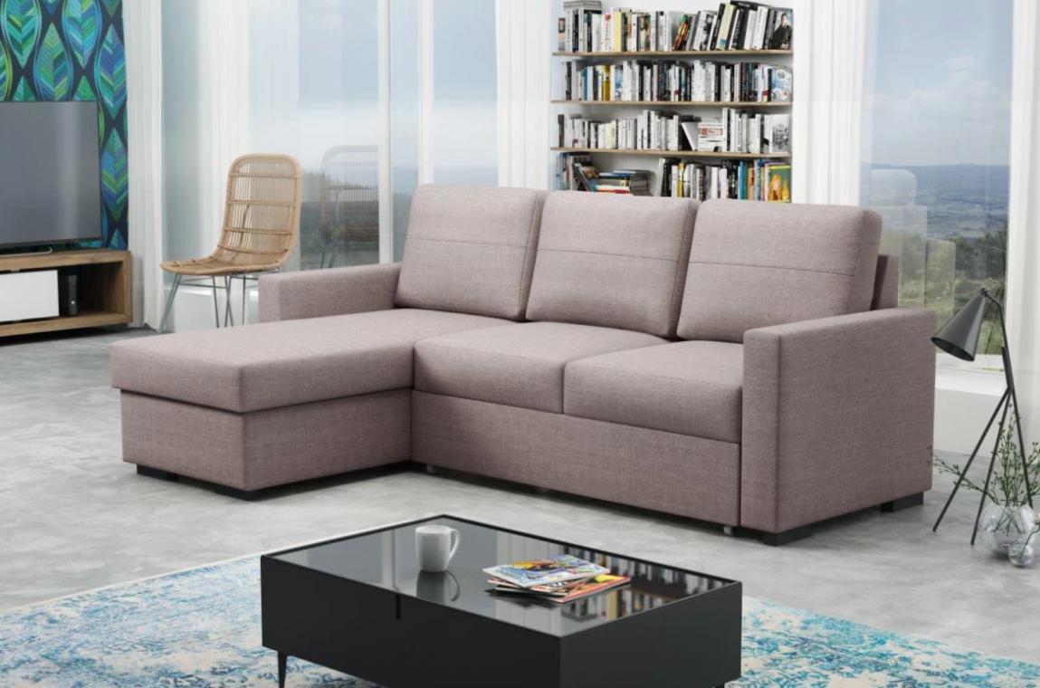 LUTHER moderní sedací souprava s rozkládací funkcí a úložným prostorem