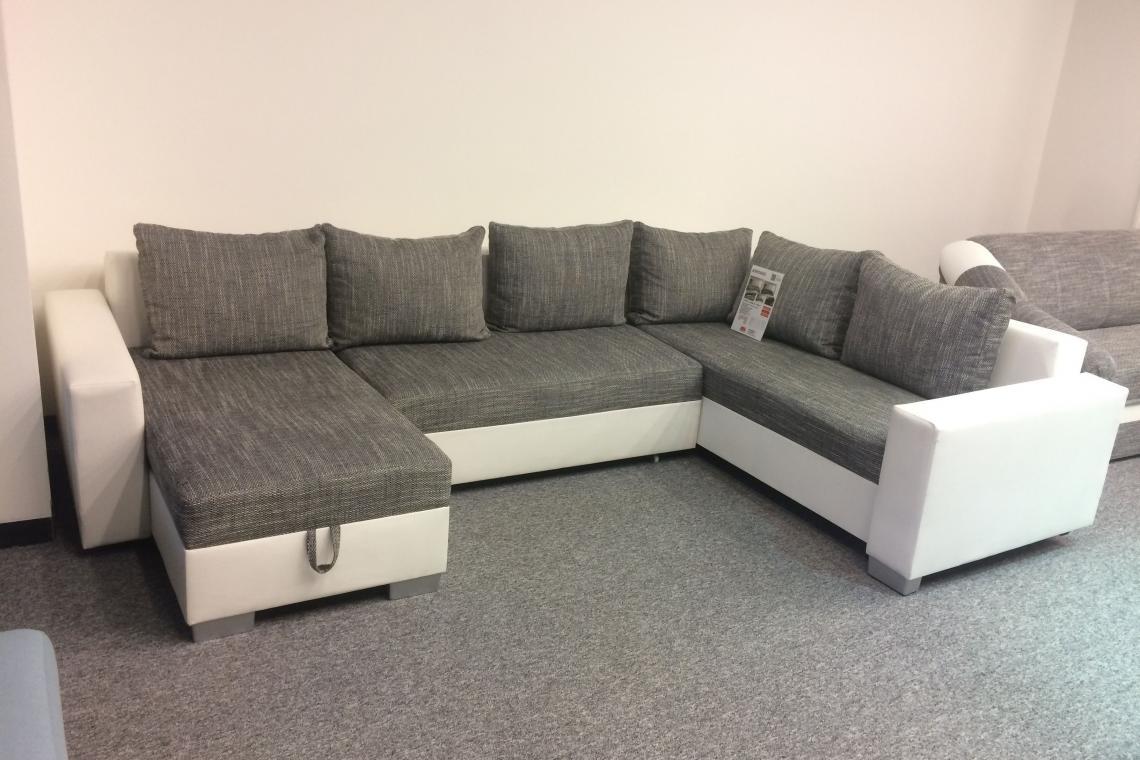 ARMANI elegantná sedacia súprava v tvare U s rozkladacou funkciou a úložným priestorom - výpredaj