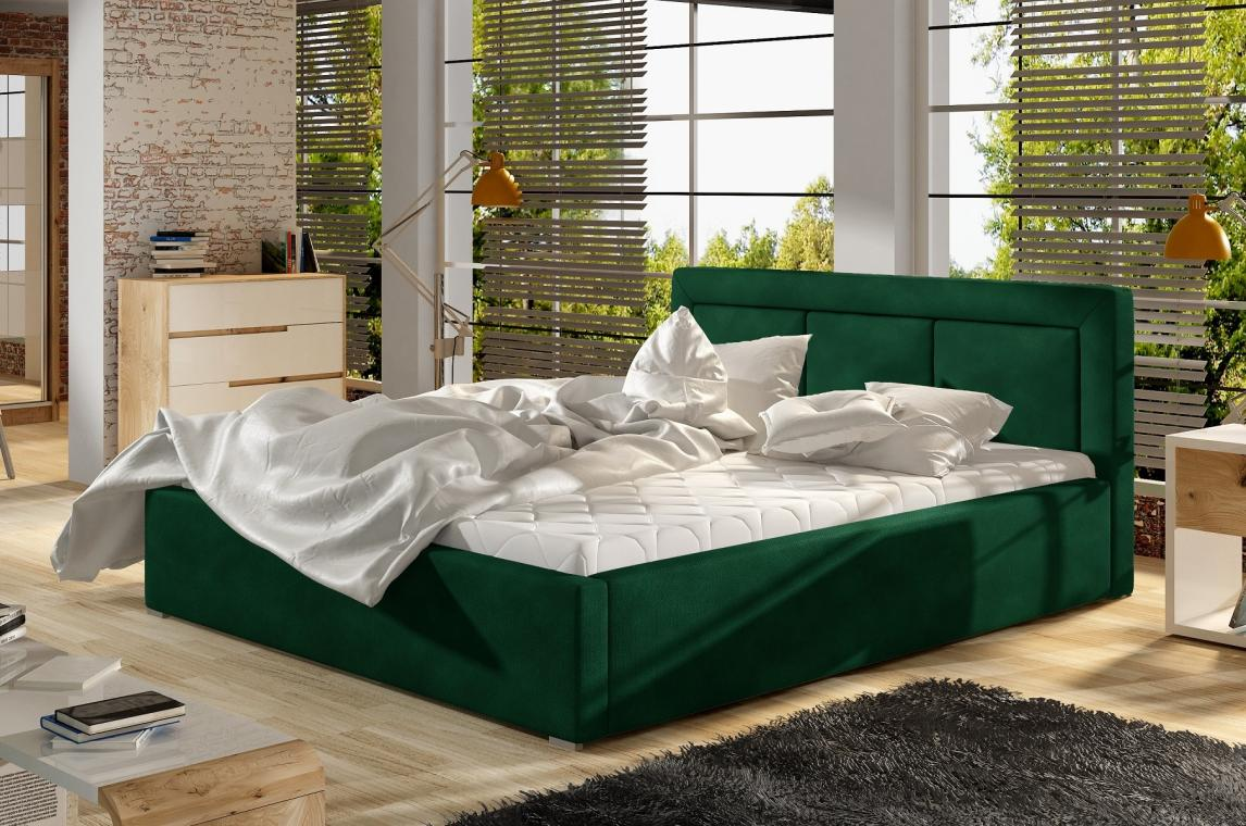 LUCKY II čalúnená posteľ s kovovým roštom a úložným priestorom | 4 ROZMERY