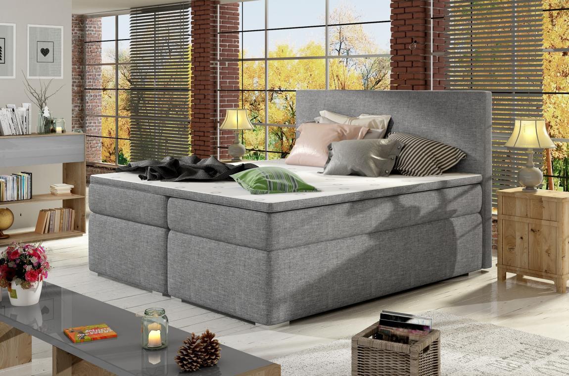 DIVALO 180x200 boxspring posteľ s úložným priestorom