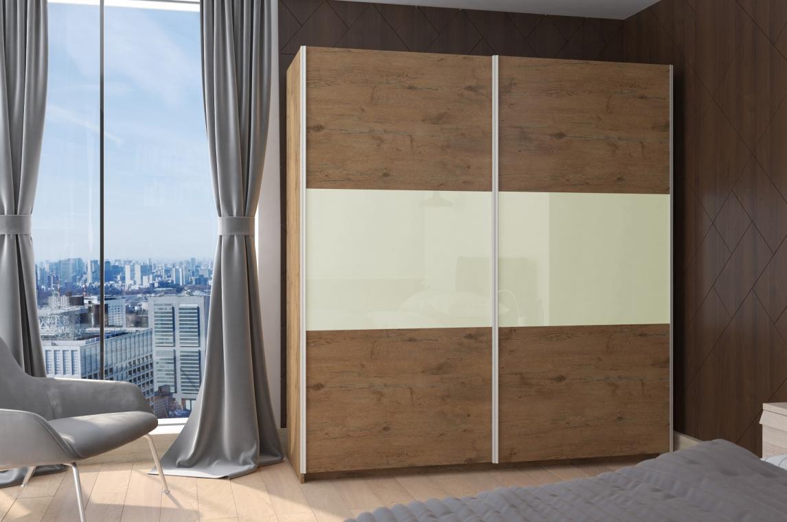 BRICK moderná šatníková skriňa s posuvnými dverami
