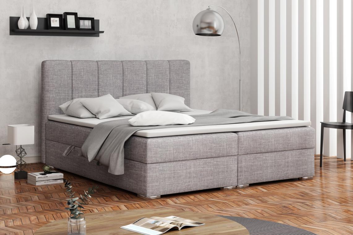 DENALI kontinentální postel boxspring 180x200 s úložným prostorem