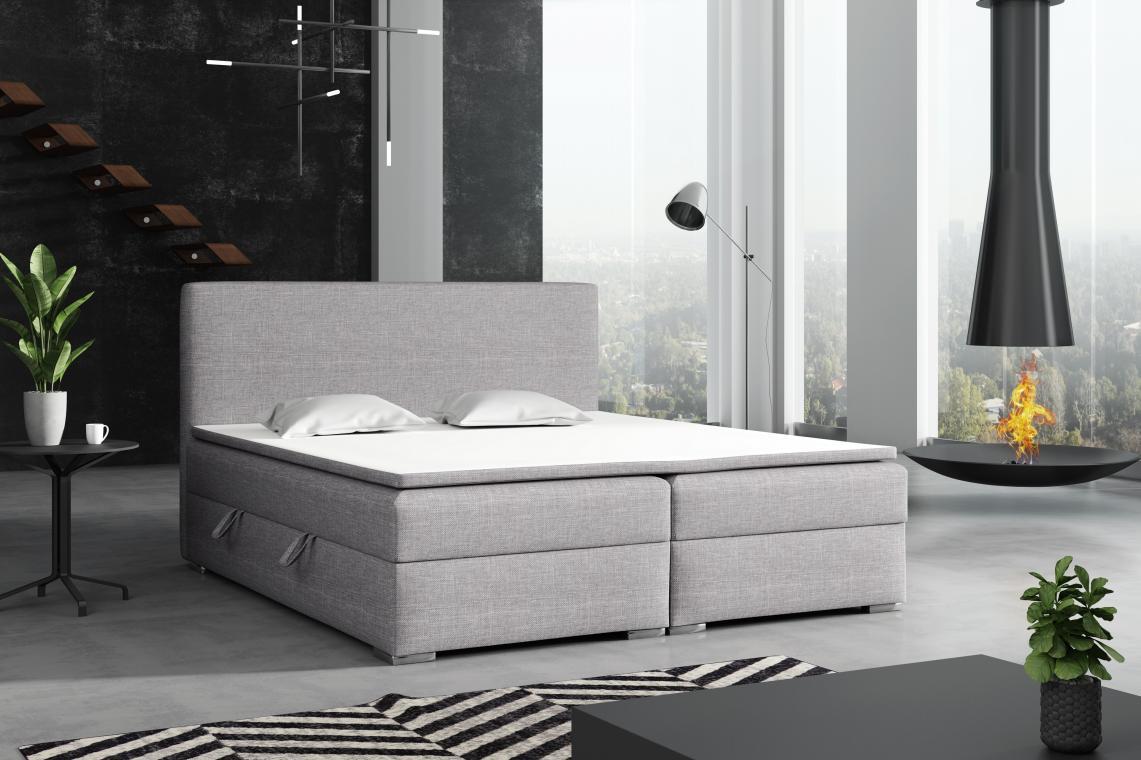 DETROIT kontinentální postel boxspring 180x200 s úložným prostorem