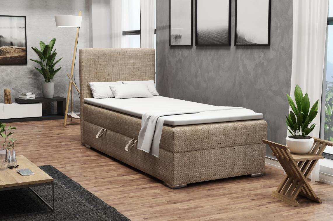 DETROIT MINI kontinentální postel boxspring 90x200 s úložným prostorem