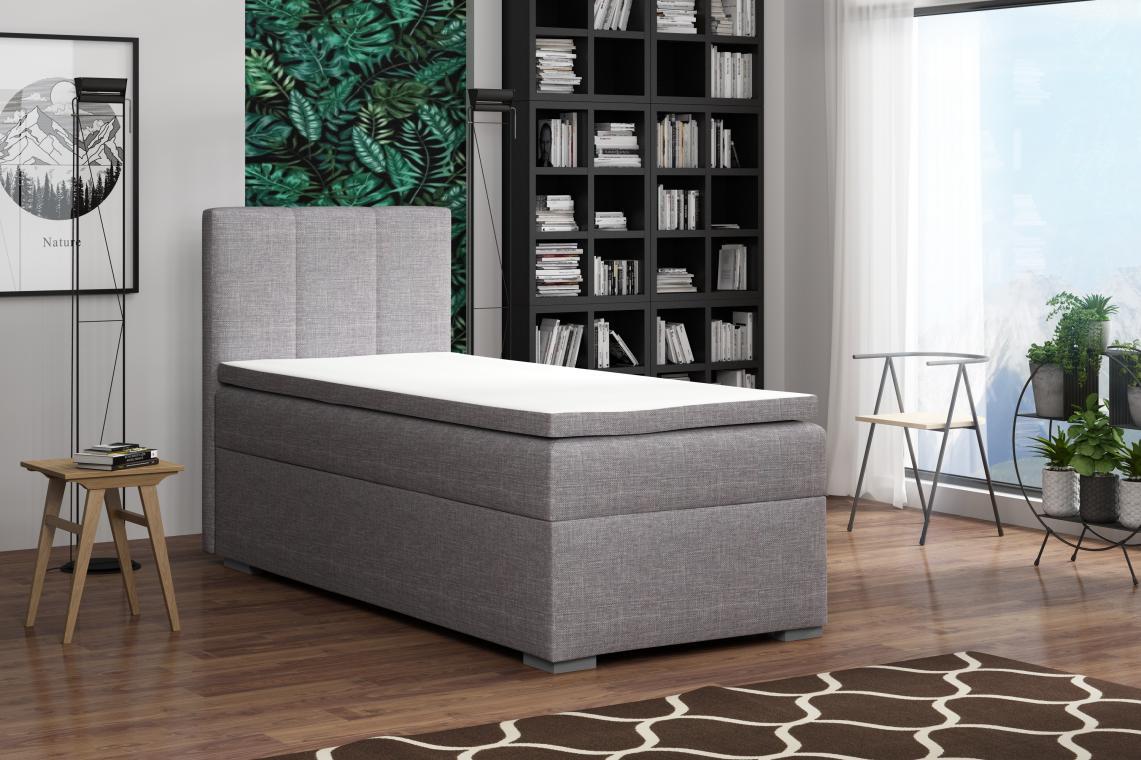 BRUCE boxspring posteľ 90x200 s úložným priestorom