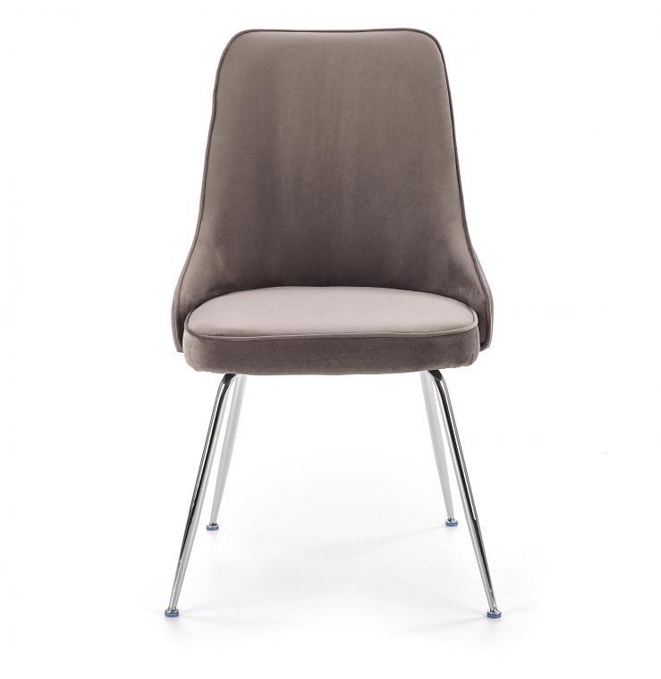 K-329 moderní čalouněná židle na kovových nožkách, šedá
