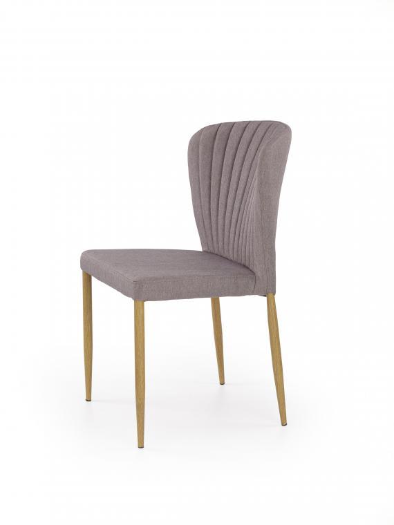 K-236 čalúnená jedálenská stolička, sivá