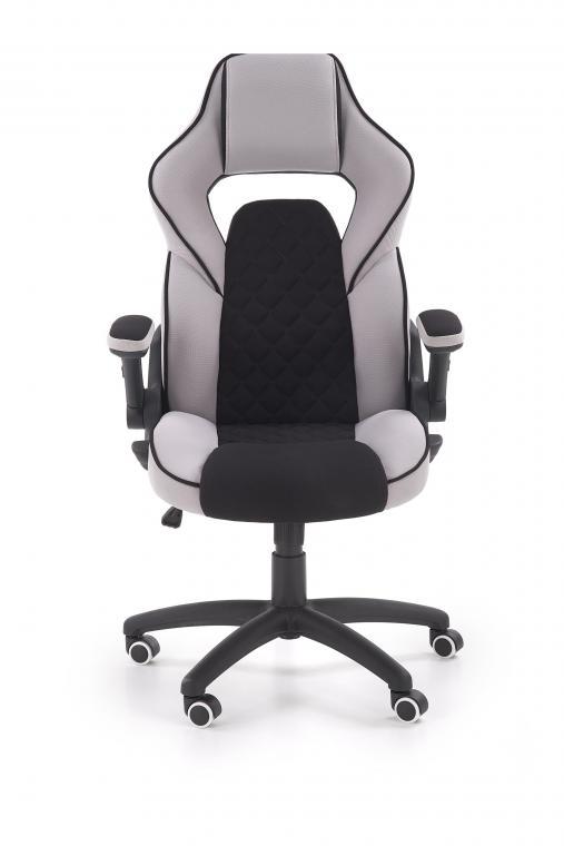 SONIC kancelárske kreslo s nastaviteľnými opierkami, čierno-šedé