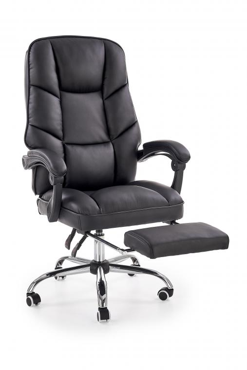 ALVIN moderné kancelárske kreslo s podnožkou, čierne