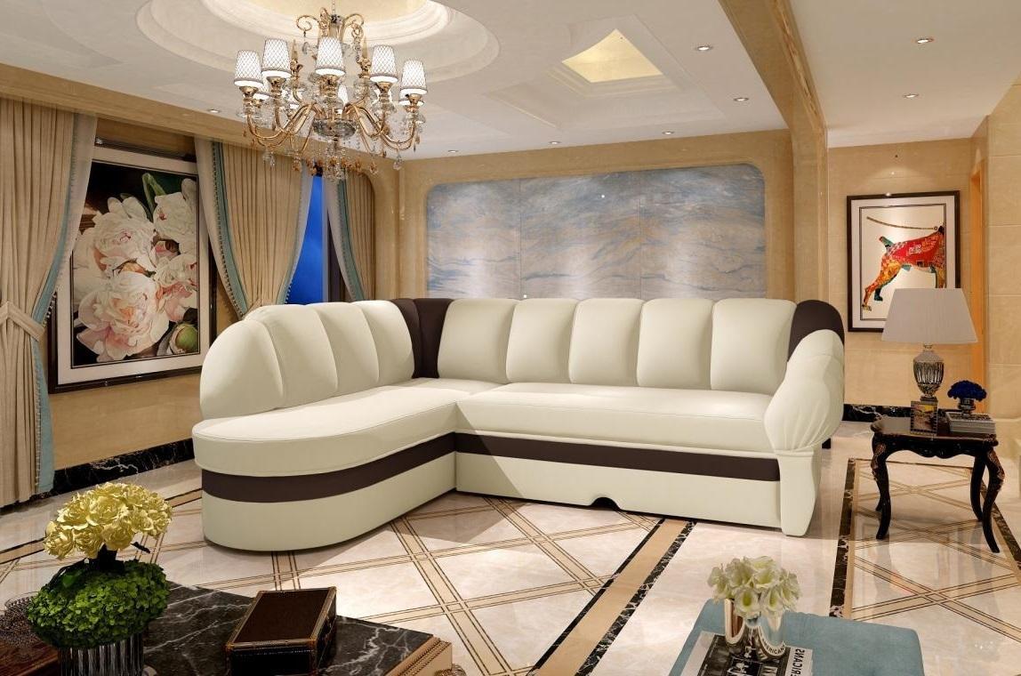 BELLA elegantná rohová sedacia súprava s rozkladacou funkciou a úložným priestorom