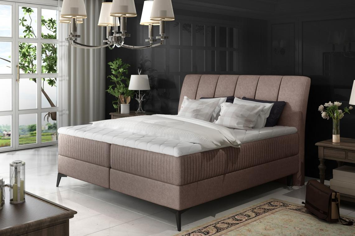 MARILYN 140x200 elegantní boxspring postel s úložným prostorem