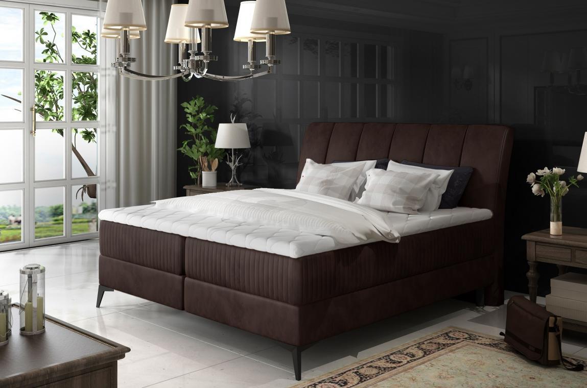 MARILYN 180x200 elegantní boxspring postel s úložným prostorem