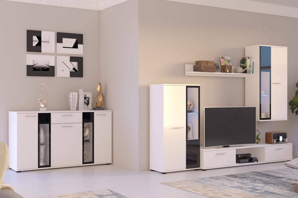 CAROL obývacia stena, biela