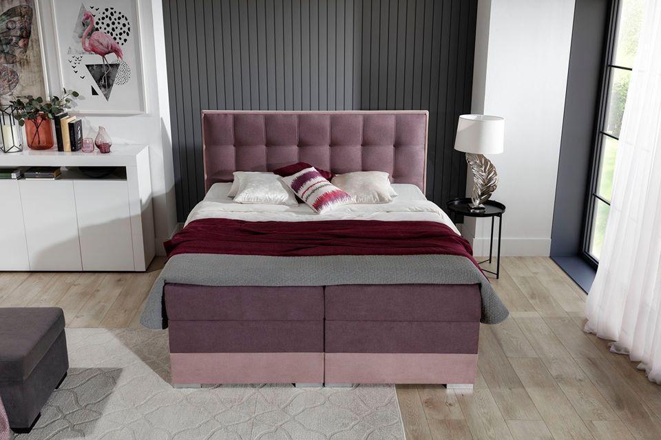 DANTE 160x200 boxspring postel s úložným prostorem