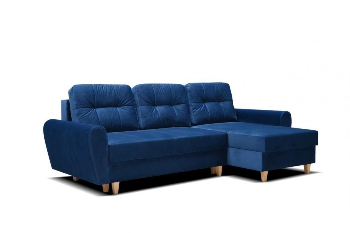 MARIKA rozkládací rohová sedačka s úložným prostorem v skandinávském stylu