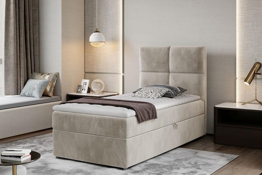 LYRIA boxspring posteľ 90x200 s úložným priestorom