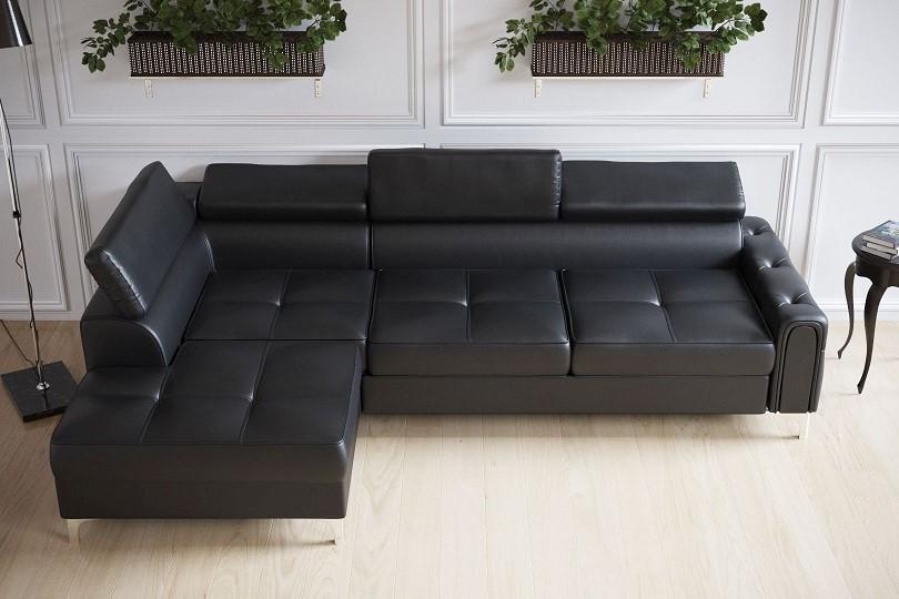 SIRIUS elegantní rozkládací sedací souprava s úložným prostorem