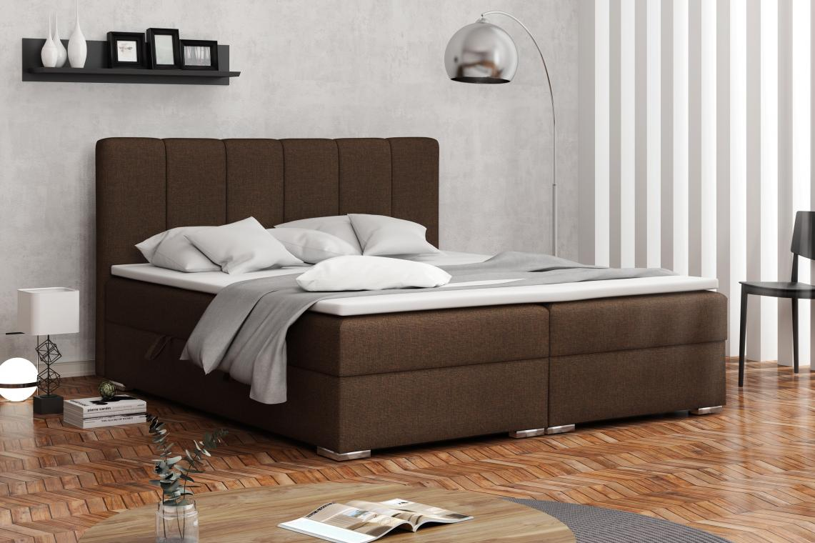 DENALI kontinentální postel boxspring 160x200 s úložným prostorem