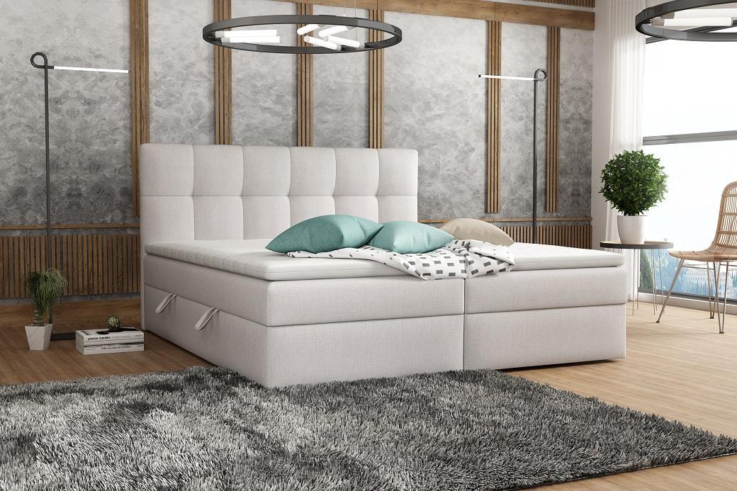 TERMI kontinentálna posteľ boxspring 200x200 s úložným priestorom