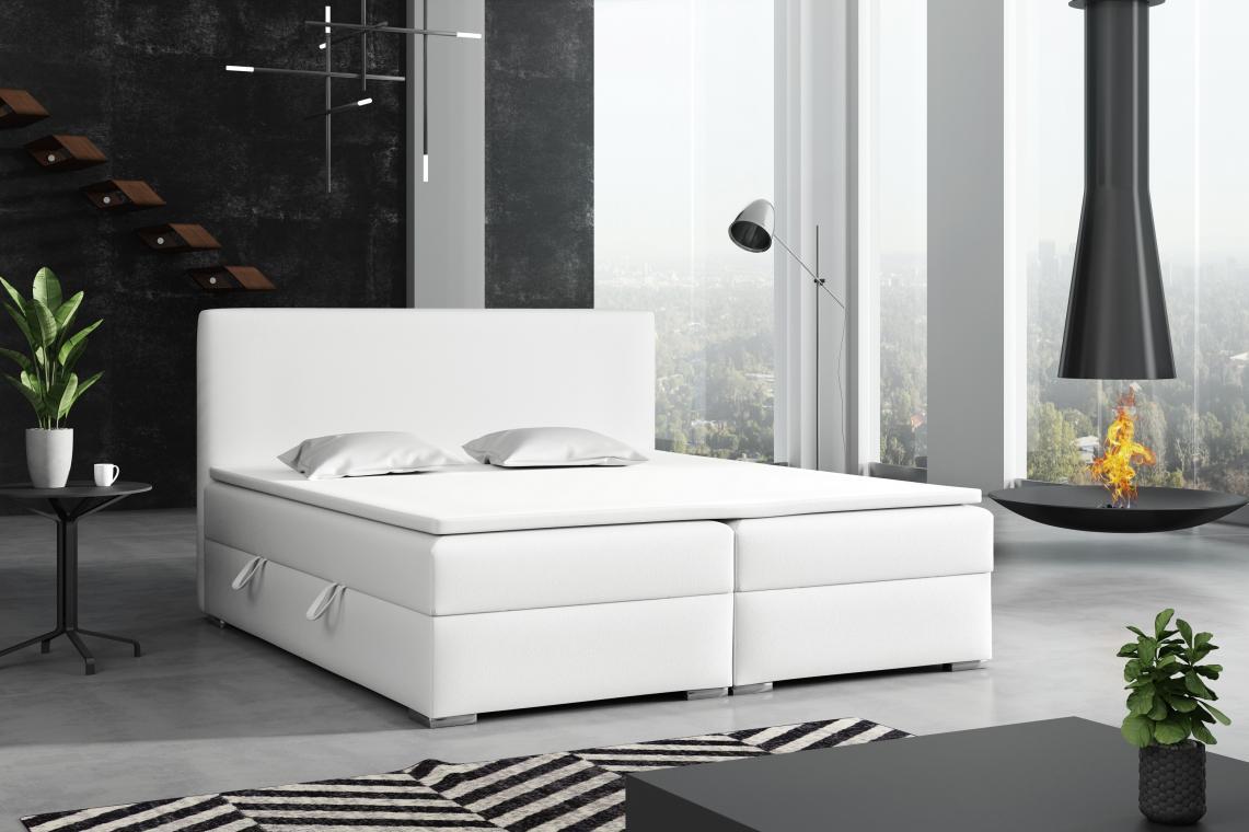 DETROIT kontinentálna posteľ boxspring 140x200 s úložným priestorom