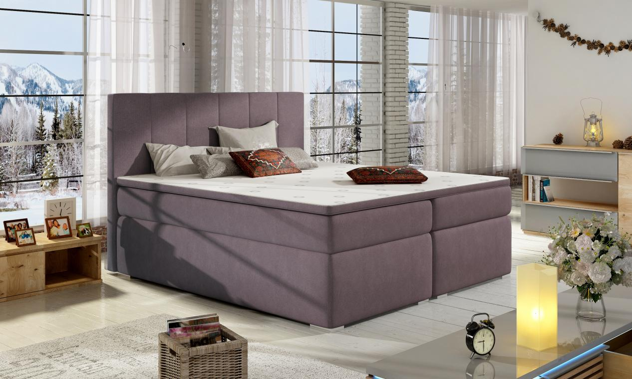 BOLERO 200x200 boxspring postel s úložným prostorem
